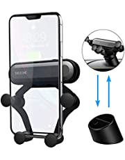Car Phone Mount, AICT Shockproof Car Cell Phone Holder, Adjustable Gooseneck & Clip with iPhone, Samsung, Android Smartphones