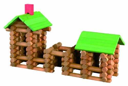Tumble Tree Timbers Wood Building Set - 150 Pieces. Build Log Cabins. Educational STEM Toy
