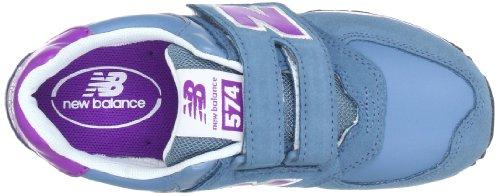 New Balance Kv574 M (Youth), Zapatillas de Estar por Casa para Niños azul - Blau (BVY BLUE/VIOLET 5)