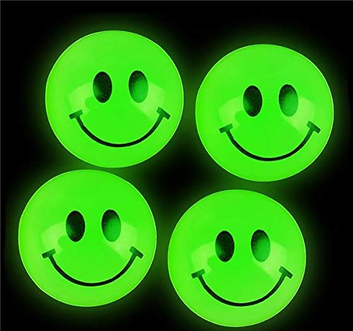 Rhode Island Novelty Glow In The Dark Smile Face Balls | 144 pcs
