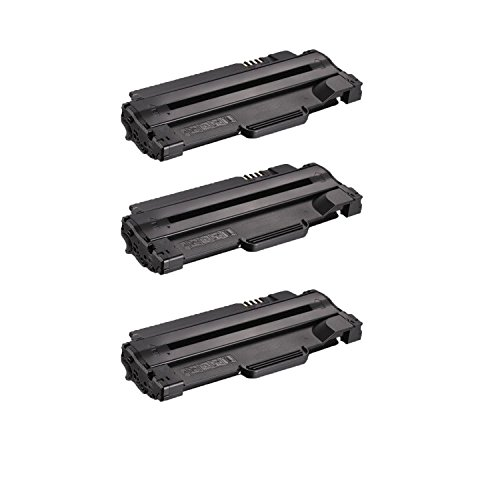 Compatible Toner to replace Dell 330-9523 (7H53W) High Yield Black Toner Cartridge for your Dell 1130,1135 Printer-3 Pack