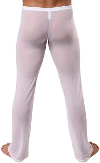 Keaac Pantalones Sueltos De Malla Para Hombre Suaves Y Comodos Transparentes Blanco Us M Amazon Com Mx Ropa Zapatos Y Accesorios