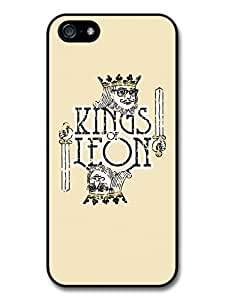 Kings of Leon Card Illustration with Yellow Background case for iPhone 5 5S