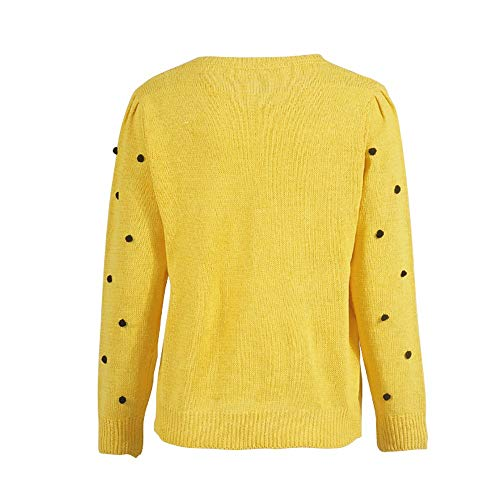 Youngh New Womens Sweatshirt Solid Dot Ball Loose Long Sleeve Casual Fashion Knitted Pullover Tops Sweater by Youngh Sweatshirt (Image #5)