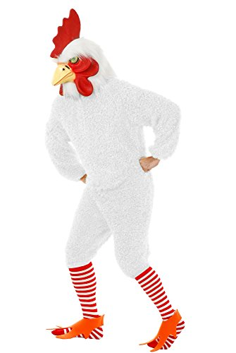 Charades Unisex-Adult's Rocking Rooster, White, X-Large