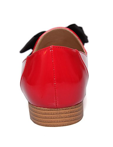 Tacón us6 Patentado gyht Punta Plano red red Mocasines cn39 Negro Rojo ZQ eu39 de mujer eu39 red us8 Comfort Trabajo Redonda Cuero uk6 cn37 Blanco Oficina Casual 5 Zapatos 5 uk4 eu37 5 uk6 cn39 y us8 7 IdZwA