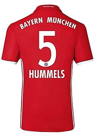 adidas Camiseta de equipo de fútbol FC Bayern München, Hummels 5, small: Amazon.es: Deportes y aire libre