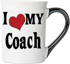 I Love My Coach Large 18 Oz. Coffee Mug, Ceramic Coach Coffee Cup, Coach Gifts By Tumbleweed