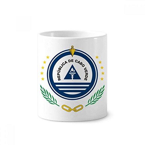 Cape Verde National Emblem Country Toothbrush Pen Holder Mug White Ceramic Cup 12oz
