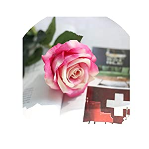 10pcs/Lots Floral Latex Real Touch Rose Artificial Flowers Silk Flowers Rose Wedding Bouquet Home Decor Party Flowers,H 37