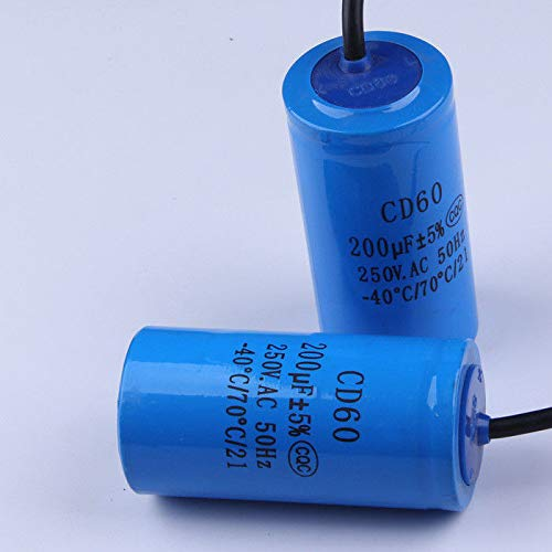 FidgetFidget Staring Capacitor CD60 200UF 250V Heavy Duty Electric Motor Starting capacitors