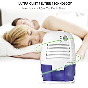 Removable Quiet Mini Compact Thermo-Electric Dehumidifier for Room Boat, Protable Dehumidifier for Closet, Bedroom, Premium Humidifying Unit with Whisper-quiet Operation