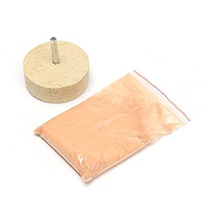 Glass Polishing 50g Cerium Oxide Powder Scratch Remover with Polishing Wheel