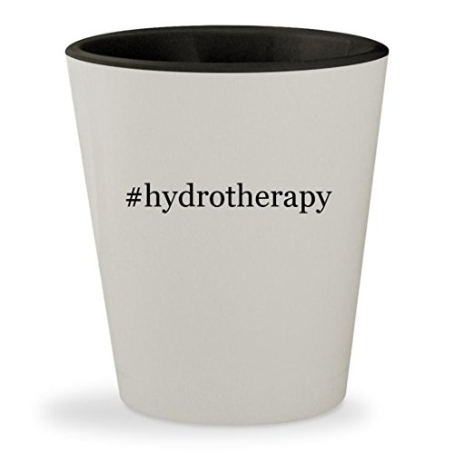#hydrotherapy - Hashtag White Outer & Black Inner Ceramic 1.5oz Shot Glass