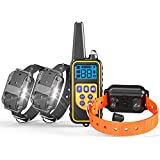 Veckle Dog Training Collar, 2600ft Rechargeable Shock Collar for 2 Dogs Waterproof Dog Shock Collar with Remote, Beep, Charger, Vibration Dog Electronic Collar for Large and Medium Dogs (for 3 Dogs) For Sale