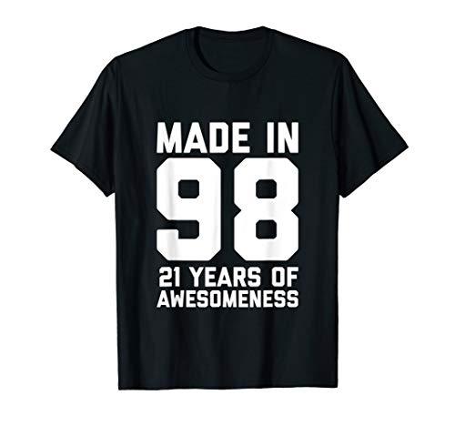 21st Birthday Shirt Men Women Son 21 Year Old Daughter Gift