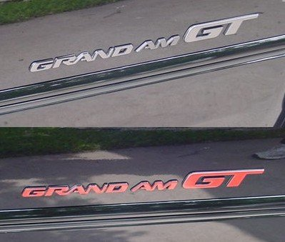 Badge Overlay Decals - 96-05 Grand Am GT - (Color: Gloss Red) (Pontiac Grand Am Gt Decals compare prices)