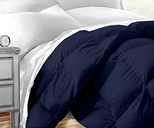 Sleep Restoration Down Alternative Comforter 1400 Series - Best Hotel Quality Hypoallergenic Duvet Insert Bedding - King/Cal King - Navy