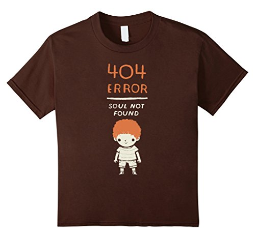Kids 404 error T-shirt, soul not found, funny ginger T-shirt 12 - No Has Ginger Soul