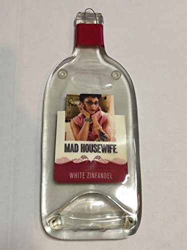 Mad HouseWife Melted Wine Bottle Cheese Serving Tray - Wine Gifts (White Zinfandel) (California White Wine Zinfandel)