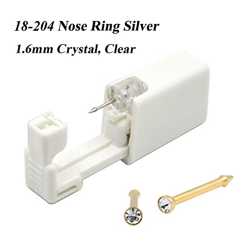 (CHUANCI 2 Units Disposable Safe Sterile Piercing Unit for Nose Studs Piercing Gun Piercer Tool Machine Kit Stud Earring Body Jewelry (18-204))