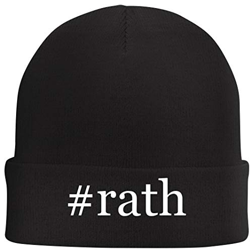 Tracy Gifts #rath - Hashtag Beanie Skull Cap with Fleece Liner, Black, One Size
