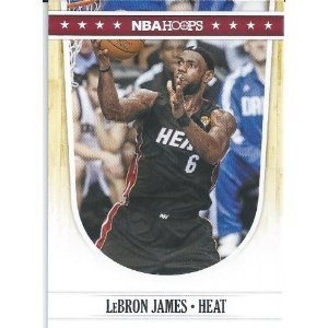 Lebron James 2011-2012 NBA Hoops Basketball Card #119 - Miami Heat - Stored in a Protective Plastic Display Case!!