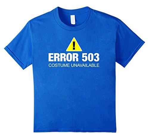 Kids Funny Error Halloween Costume T-Shirt for Web Developer 12 Royal (Nerd Costume Ideas For Girls)