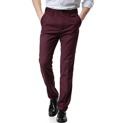 Guardapolvos Business Casual Los Work Pocket es ALIKEEY Casual Casual De Rojo Pantalón De Bolsillo Hombres WBwwnaqI
