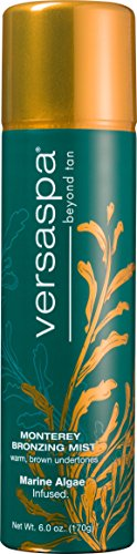 Versa Spa Self-Tanning Bronzing Mist - Monterey Bronzer Long-Lasting Spray with Warm, Brown Undertones, 6 Ounces by Versa Spa