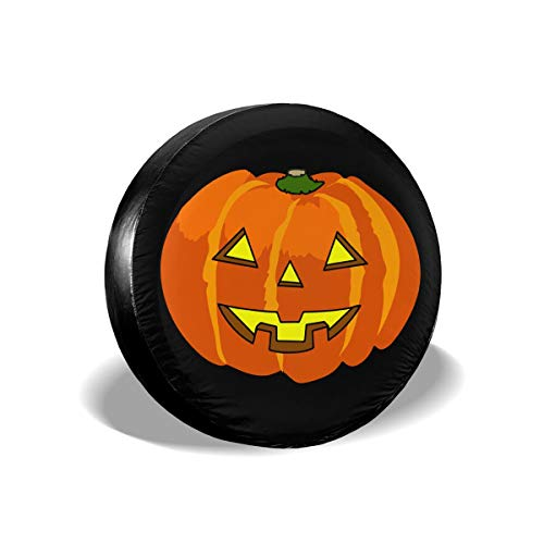 Halloween Pumpkin Spare Wheel Tire Cover Polyester Universal Wheel Covers for Jeep Trailer RV SUV Truck Camper Travel Trailer Accessories