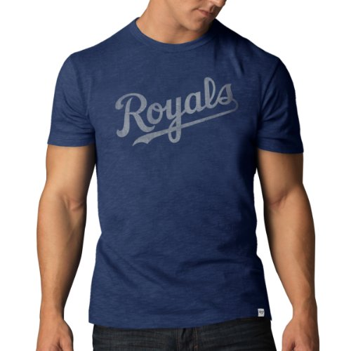 Kansas City Royals Shorts - MLB Kansas City Royals Men's Scrum Basic Tee, Medium, Bleacher Blue