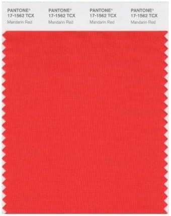 PANTONE SMART 17-1562X Color Swatch Card, Mandarin Red by Pantone ...
