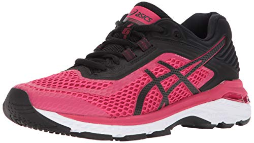 ASICS Womens GT-2000 6 Running Shoe, Bright Rose/Black/White, 8.5 B(M) ()