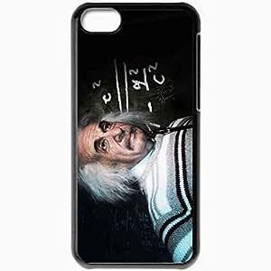Personalized iPhone 5C Cell phone Case/Cover Skin Albert Einstein Scientist Physicist Black