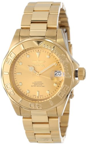 "Men's  ""Pro-Diver"" 18k Gold Ion-Plated Automatic Watch - Invicta 13929"