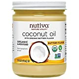 Nutiva Organic Coconut Oil with Butter Flavor from non-GMO, Steam Refined, Sustainably Farmed Coconuts, 14-ounce For Sale