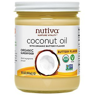 Nutiva Organic, Refined Coconut Oil with Butter Flavor, 14-ounce