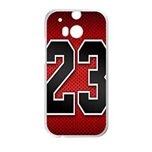 Jordon 23 Basketball White htc m8 case