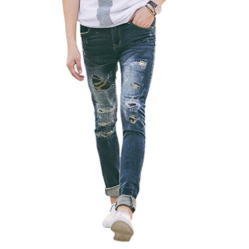 Mokewen-Mens-Frayed-Ripped-Destroyed-Damage-Jeans