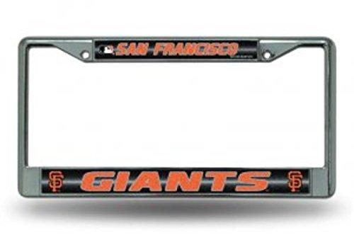 (Rico MLB San Francisco Giants Bling License Plate Frame, Chrome, 12 x 6-Inch)