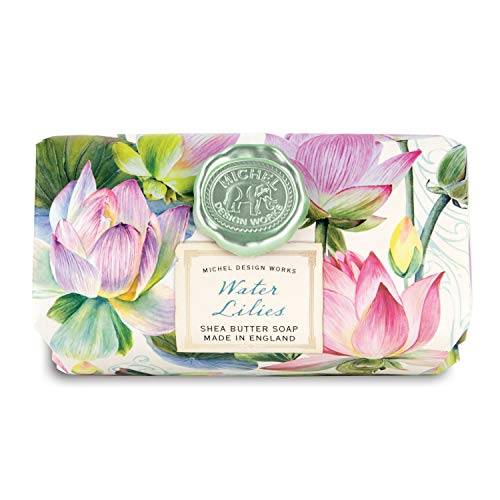 (Michel Design Works Large Bath Soap Bar - Water Lilies)