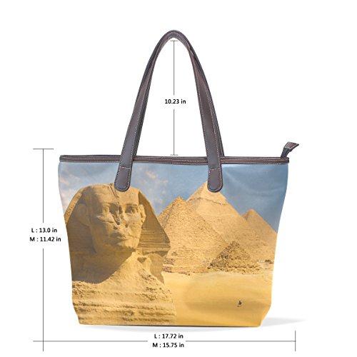 Robin Mask Glasses (Egyptian Sphinx And Pyramid Women's Fashion Large Tote Ladies Handbag Shoulder Bag)