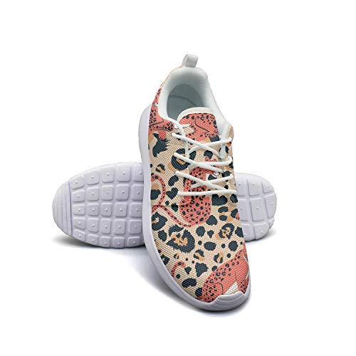 Composition Poses and Leopard dots Man's Man Flat Bottom Casual Shoes New Tennis Shoes