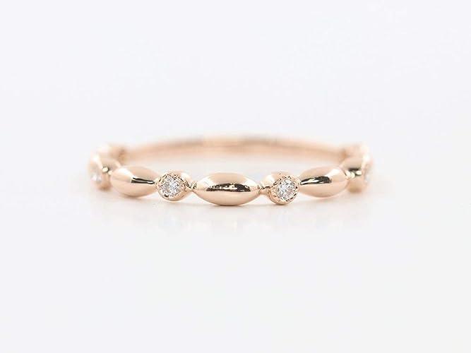 Unique Wedding Bands For Women.Amazon Com Women S Diamond Wedding Band Dainty Diamond Ring