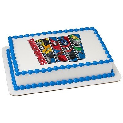 Transformers Edible Icing Image for 1/4 sheet cake