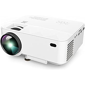 DBPOWER T21 Upgraded LED Projector,1800 Lumens Multimedia Home Theater Video Projector Supporting 1080P, HDMI, USB, SD Card, VGA, AV for Home Cinema, TV, Laptops, Games, Smartphones & iPad