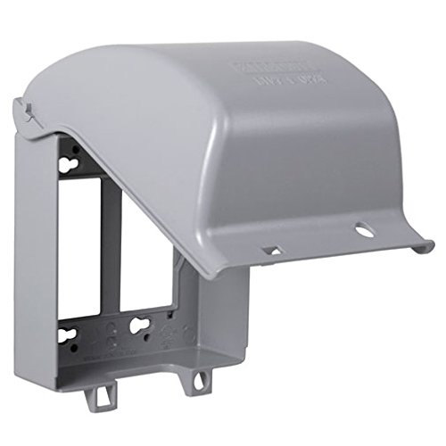 TayMac MX6200 In-Use Two Gang One and Two Device Flat Metal Weatherproof Cover 55 Configurations Grey