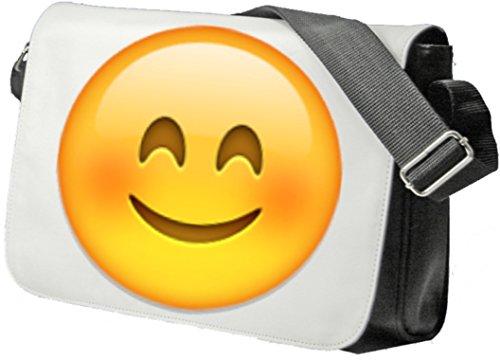"""Schultertasche """"Lächelndes Gesicht mit lächelnden Augen"""" Schultasche, Sidebag, Handtasche, Sporttasche, Fitness, Rucksack, Emoji, Smiley"""