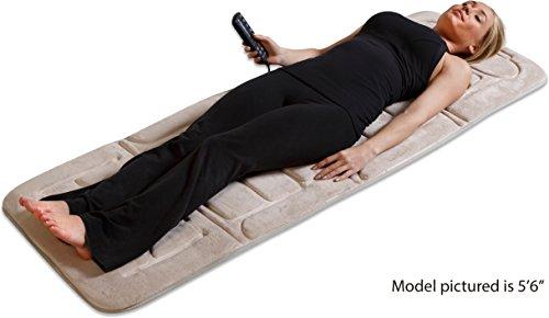 Heated mat massage body full lumbar back stress heat for Full body shiatsu massage mat